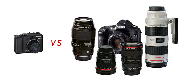 Canon Powershot G9 and Canon 5D Comparison