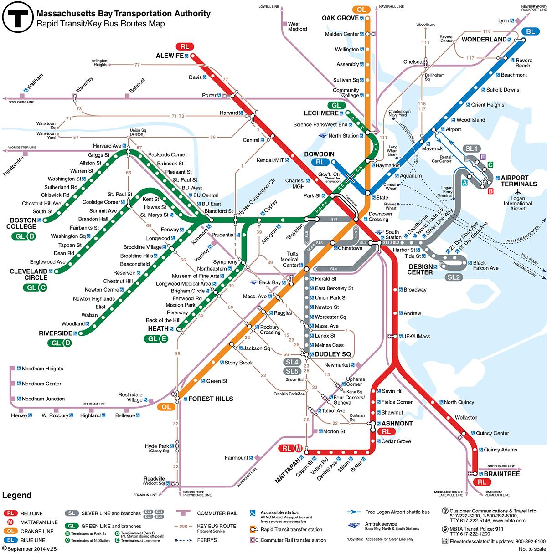 Hopstop Subway Map.Boston Subway Map Map Of World Map