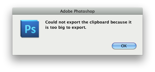 """Disabling the """"Could not export the clipboard because it is"""